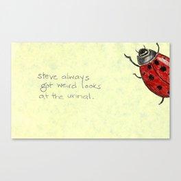 Ladybird Urinal Canvas Print