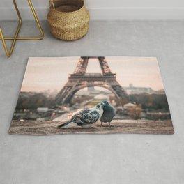 Love Paris Eiffel Tower Rug