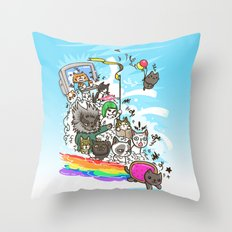 Release The Cats Throw Pillow