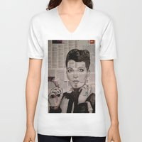 florence V-neck T-shirts featuring FLORENCE  by Aidan Reece Cawrey