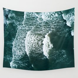 Wavy Waves on a stormy day Wall Tapestry