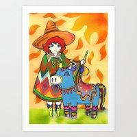 sunshine Art Prints featuring Sunshine by Natsuki Otani