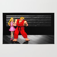barbie Area & Throw Rugs featuring Barbie & Ken. by Sam Pea