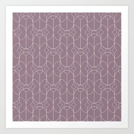 Contemporary Bowed Symmetry in Musk Mauve Art Print
