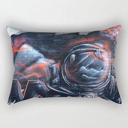 Astronaut Mural Royal Stain Rectangular Pillow