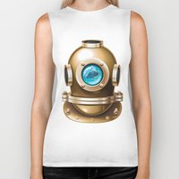 underwater Biker Tanks featuring Underwater by Texnotropio