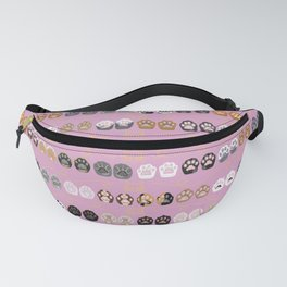 Toe Beans on Pink / Cat Paws Fanny Pack