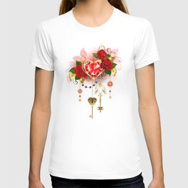 Ruby Heart with Roses T-shirt