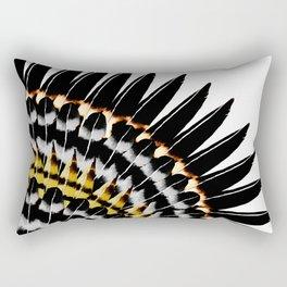 Feather Fringe Rectangular Pillow