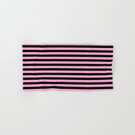 Basic Vertical Stripes - Black and Pastel Pink Hand & Bath Towel