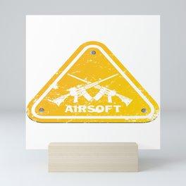 Shield Triangle Softair Airsoft BBs Gift Mini Art Print