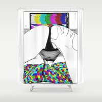 apollonia Shower Curtains featuring asc 511 - L'extatique (The ecstatic) by From Apollonia with Love