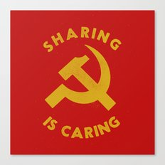 Sharing Is Caring Canvas Print