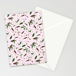 leaves feat. millennial pink Stationery Cards
