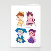 johannathemad Stationery Cards featuring CCS captains by JohannaTheMad