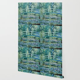 Claude Monet - Water Lilies And Japanese Bridge Wallpaper