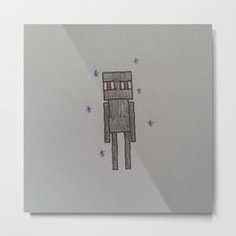 Enderman Metal Print