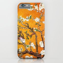 Vincent van Gogh Blossoming Almond Tree (Almond Blossoms) Orange Sky iPhone Case