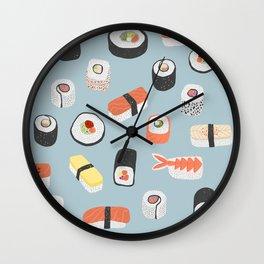 Sushi Roll Maki Nigiri Japanese Food Art Wall Clock