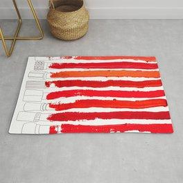 Lipstick Stripes - Red Shades Rug