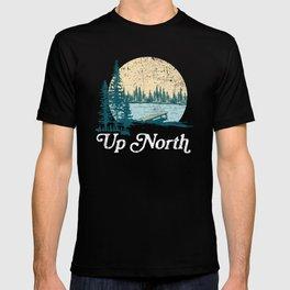 Vintage Retro Up North Lake T-shirt