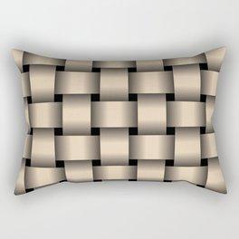 Large Bisque Brown Weave Rectangular Pillow