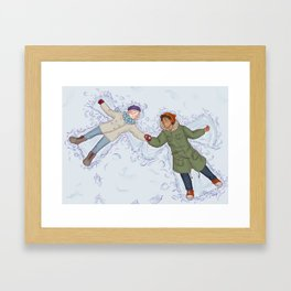 Shingeki No Christmas - Eremin Framed Art Print