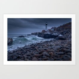 Stormy Lighthouse Art Print