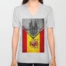 Flags - Spain Unisex V-Neck