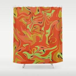 Papaya Juice Shower Curtain