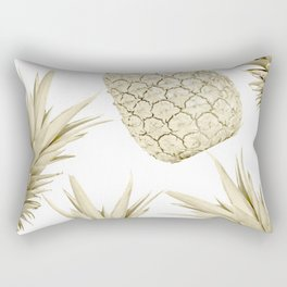 Gold Pineapple Party Rectangular Pillow