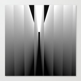 Origami: pattern of light and dark Canvas Print