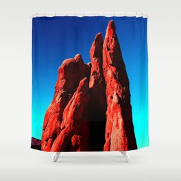Colorful Sculptures Shower Curtain