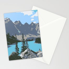 Moraine Lake- A Mountain Landscape Dream Stationery Cards