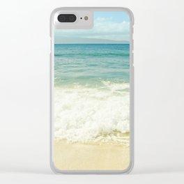 Ocean Beach Love Kapalua Blue Maui Hawaii Clear iPhone Case