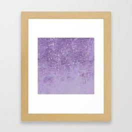 Modern elegant lavender lilac glitter marble Framed Art Print