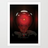 kubrick Art Prints featuring Stanley Kubrick by Philipp Banken