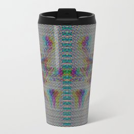 Botanical Flower Glitch II Travel Mug