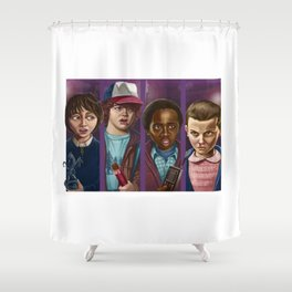 The Upside Down Rescue Squad Shower Curtain