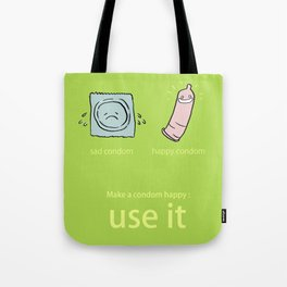 Happy Condom Tote Bag
