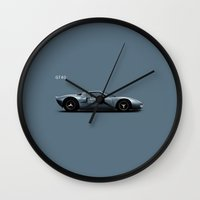 ford Wall Clocks featuring Ford GT40 by Mark Rogan
