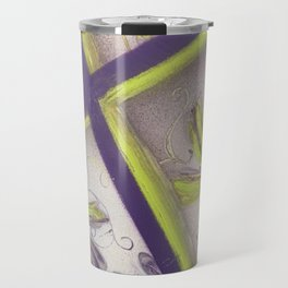 Purple green spray paint Travel Mug