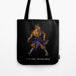 J is for Jackalwere Tote Bag