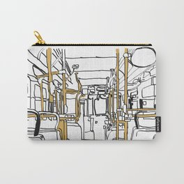 Bus Sketch Carry-All Pouch