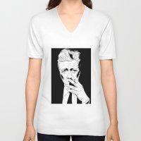 david lynch V-neck T-shirts featuring David Lynch by Olivier Carignan