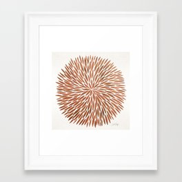 Rose Gold Burst Framed Art Print