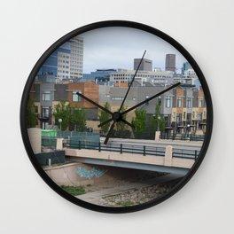 Denver Skyline & Condos Wall Clock