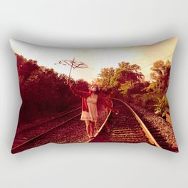 Partition the empty sky Rectangular Pillow