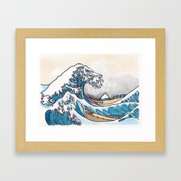 The Shitty Great Wave Framed Art Print