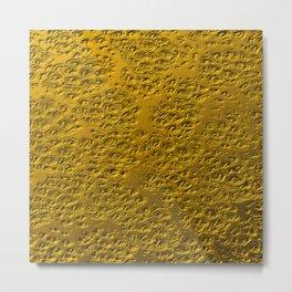 Damaged gold Metal Print